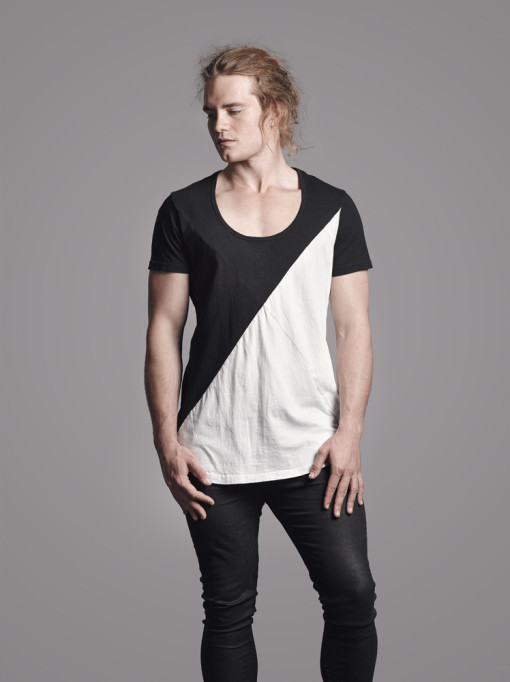 Cameron & James minimalist black and white tee