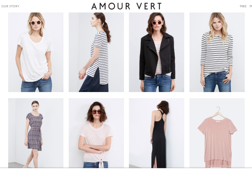 amour vert sustainable fashion cheap and affordable ethical fashion