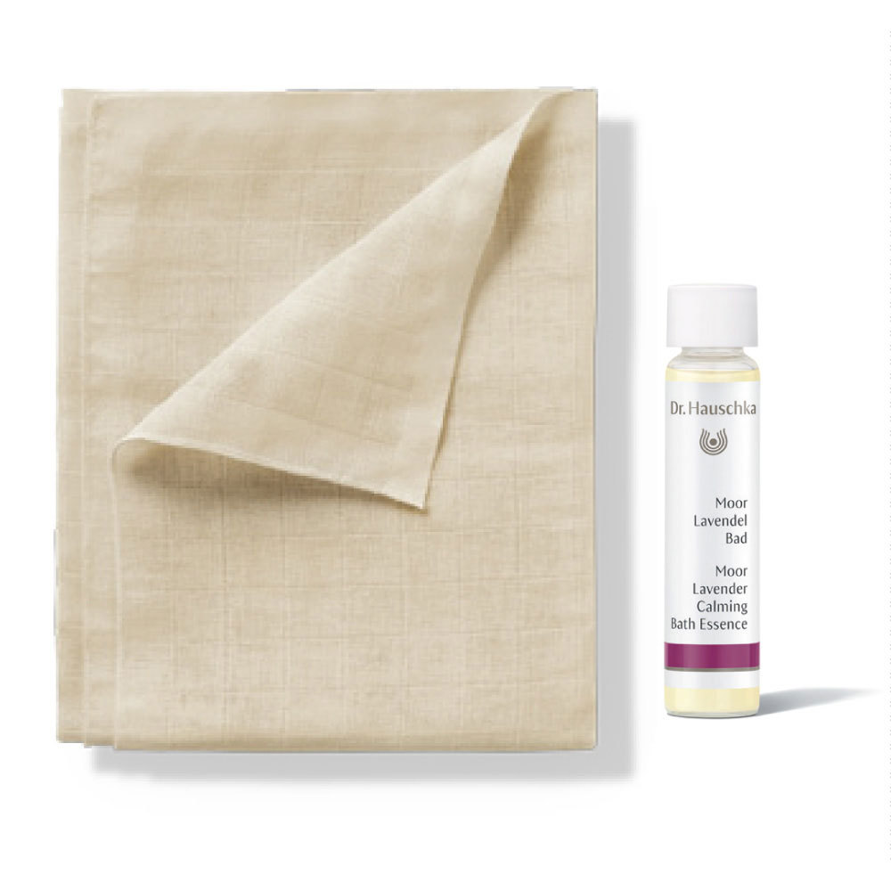 Dr Hauschka Organic Cotton Compress (80x80cm) Reusable Cotton Face Wipe Sponge Makeup Remover Zero Waste