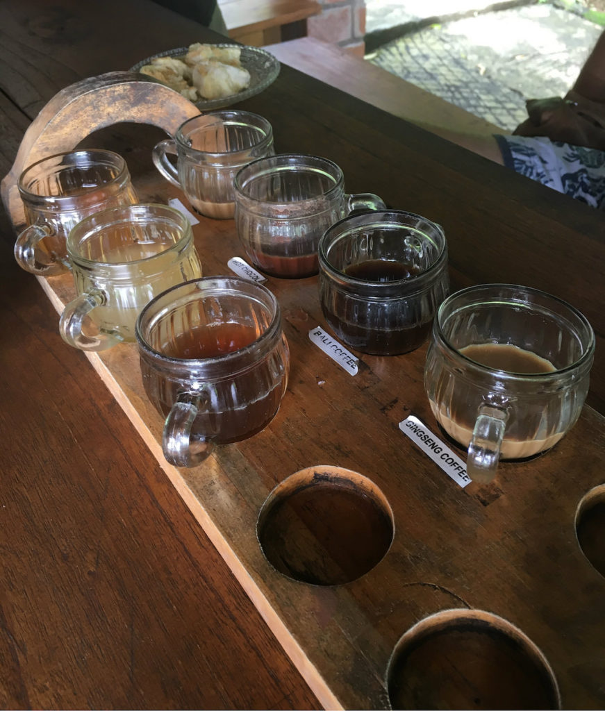 Coffee plantation - served coffee & tea such as ginseng, ginger etc