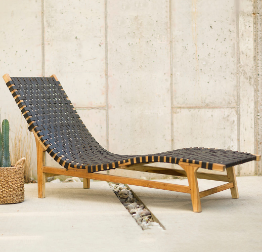 Teak and Recycled Rubber Outdoor Furniture Collection from Vivaterra