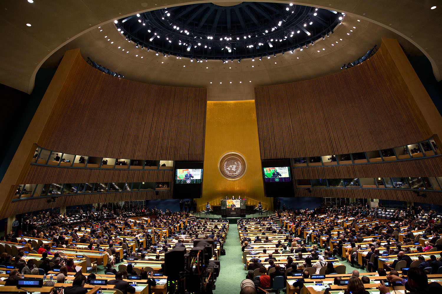UNGA Climate Summit 2014 in the General Assembly Hall at the_United Nations in New York