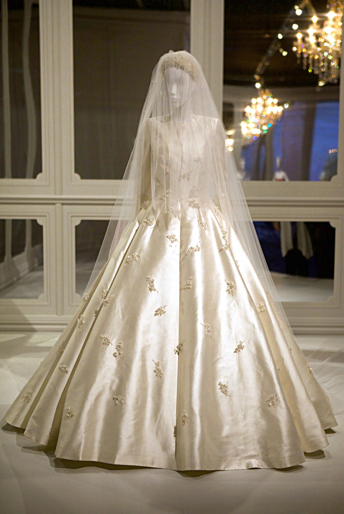 Mirander Kerr's wedding dress. The House of Dior- Seventy Years of Haute Couture. Photo credit: Eco Warrior Princess