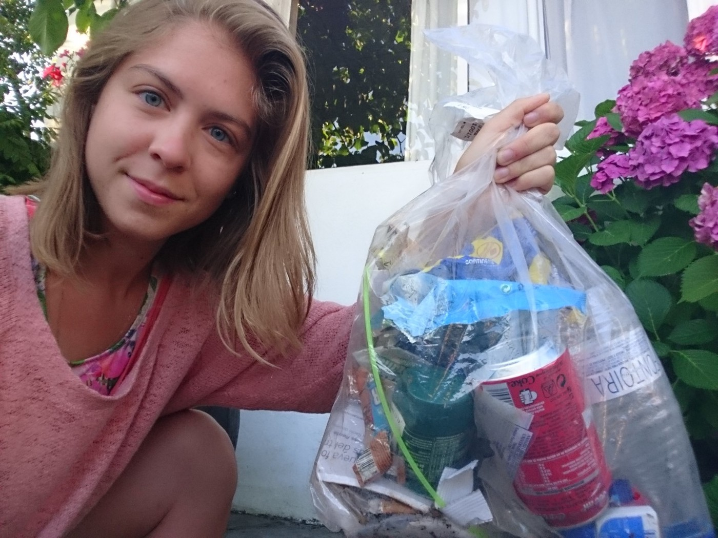 Emilia Cantero started living green, and began picking up street trash to try to help nature and wildlife