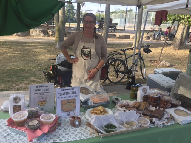 Roncesvalles farmers market in Canada