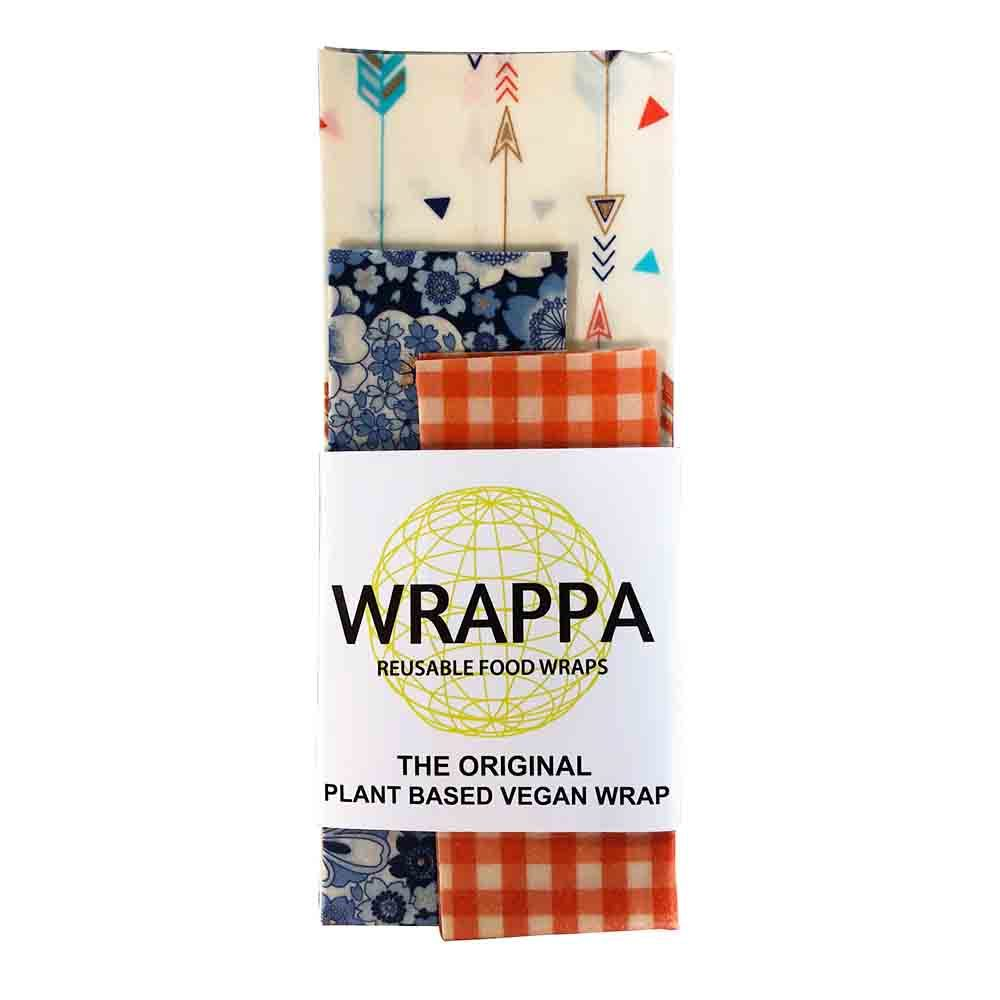 Wrappa Vegan Food Wrap - Orange and Arrows Zero Waste Xmas Gifts