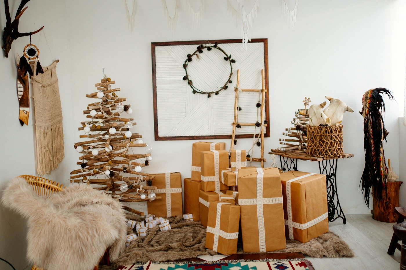 Alternative fake trees made from recycled materials are the most sustainable christmas tree option
