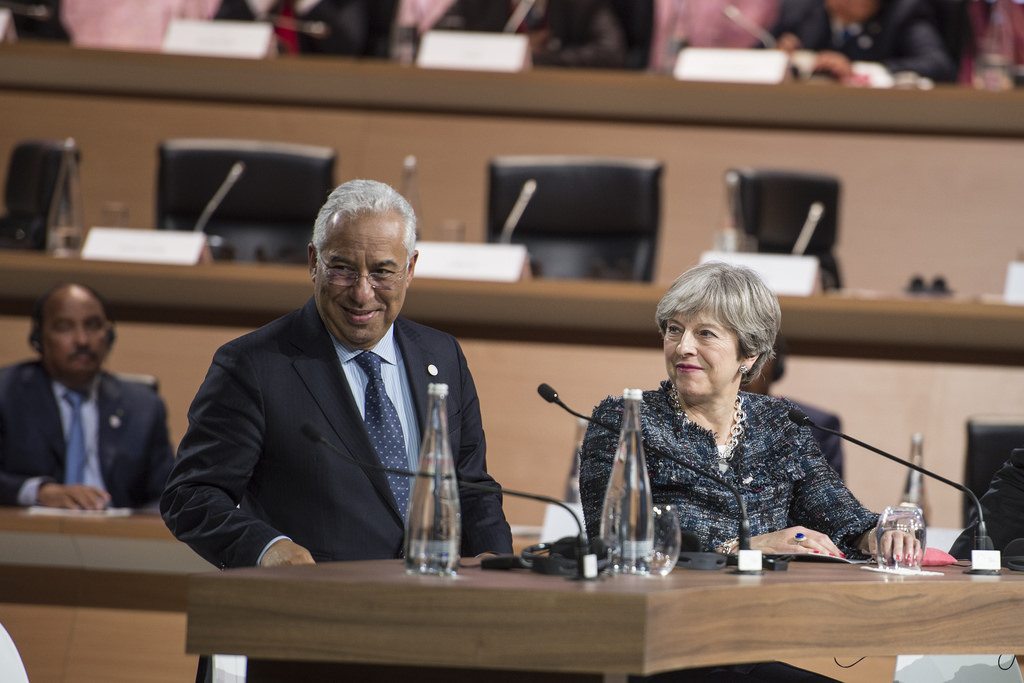Prime Minister Theresa May attends the One Planet Summit in Paris