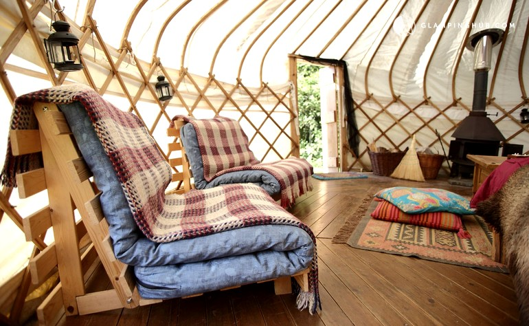 Yurt Rentals on Eco-Friendly Site in Wales, United Kingdom