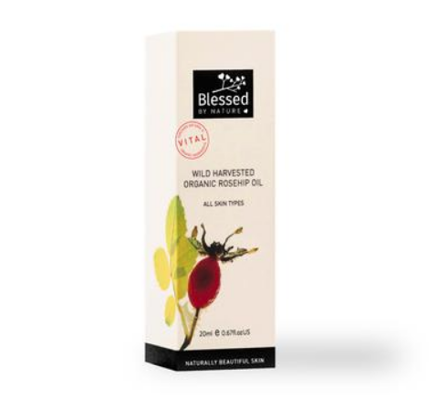 Blessed By Nature 20ml Wild Harvest Organic Rosehip Oil - Australian Eco-Friendly Beauty Product