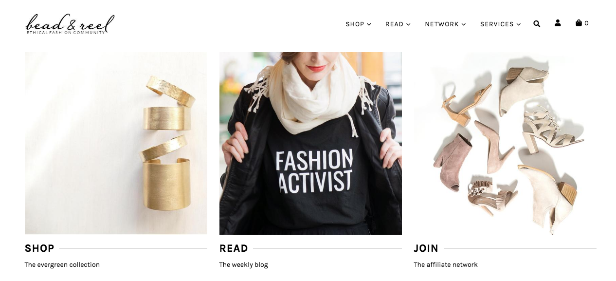 Bead and Reel Ethical Fashion Online Shop USA