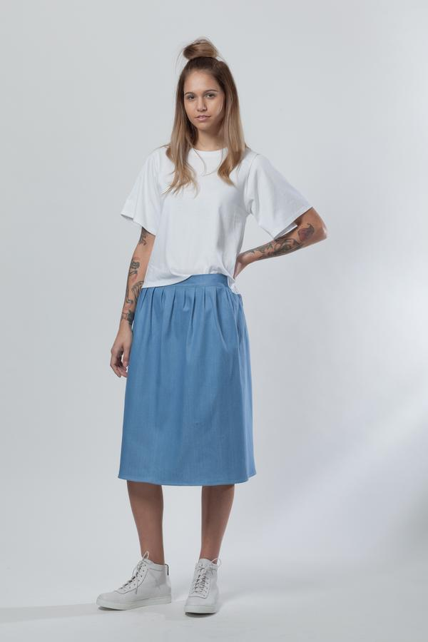 ReCreate AW18 'Configure' Organic Cotton Denim Skirt