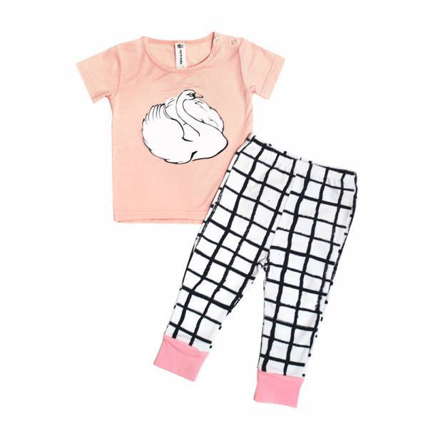 Earth Baby Outfitters Bamboo Short Sleeve Pajama Set - Eco Friendly Kids clothes