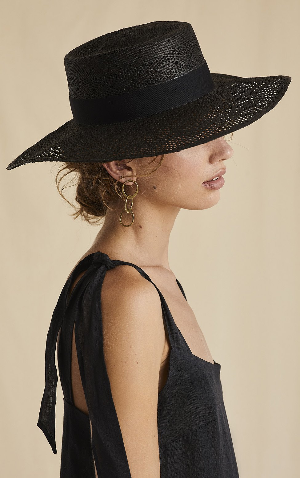 'To The Races' Boater style hat ethical hats Sarah J Curtis
