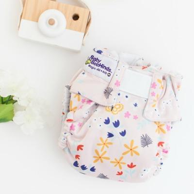 Reusable Clothing Nappies - Magic-Alls Aio (All-In-One) Velcro - Flutterby